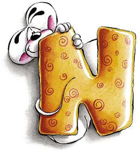 diddle lettere alfabeto diddl lettera n