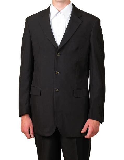 Suit Blazer new mens 3 button black blazer suit jacket 46 46s ebay