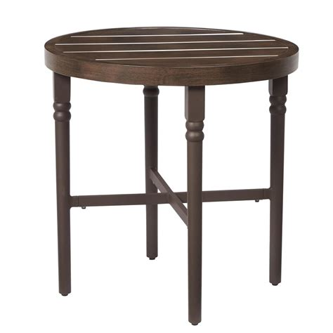 Bistro Patio Tables Hton Bay Niles Park 30 In Cast Top Patio Bistro Table Alh16115k01 The Home Depot