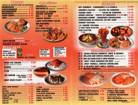 steak house menu chubby s mexican restaurant menu slc menu