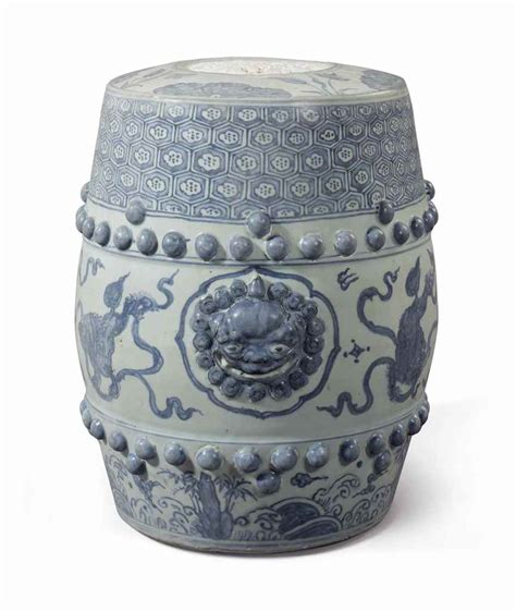 Garden Stool Blue White by A Blue And White Garden Stool Ming Dynasty Zhengde