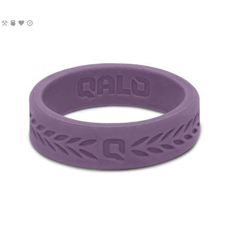 QALO Women?s Lilac Laurel Q2X Silicone Wedding Ring QS