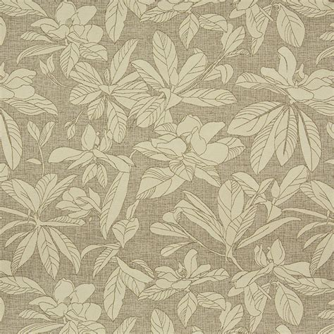 upholstery fabic beige and brown floral leaves indoor outdoor upholstery