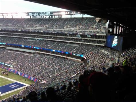 section 245a metlife stadium section 228b giants jets rateyourseats com
