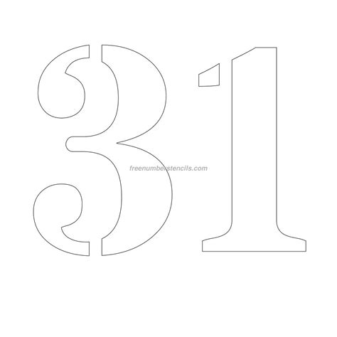free number templates to print free 12 inch 31 number stencil freenumberstencils