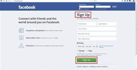 design home new account how to sign up for facebook how to create facebook new