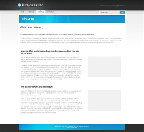 businesspro xhtml template corporate css templates
