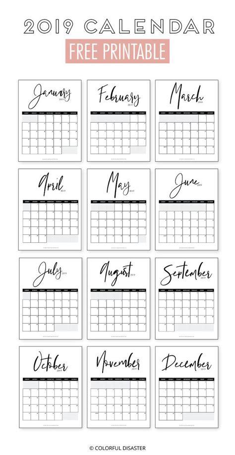 monthly printable calendar  diy kalender basteln kalender vorlagen gratis kalender