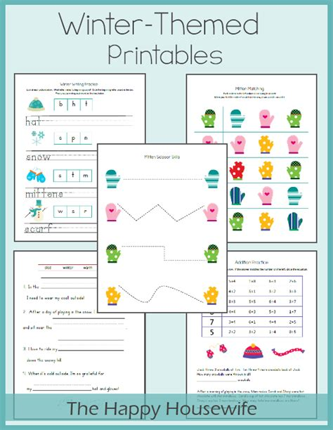 january printable games winter worksheets free printables the happy housewife