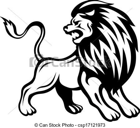 imagenes de leones enojados vectors illustration of angry lion in heraldic style