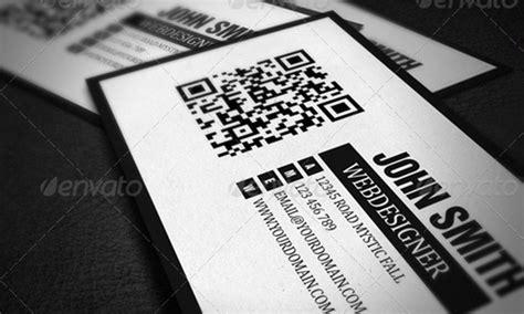 qr code business card template psd 12 qr card psd images qr code business cards unique