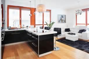 Modern Home Design Trends wohnk 252 che in schwarz wei 223 roomido com
