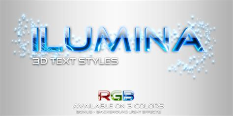 photoshop layout script ilumina glowing text styles by artorius graphicriver