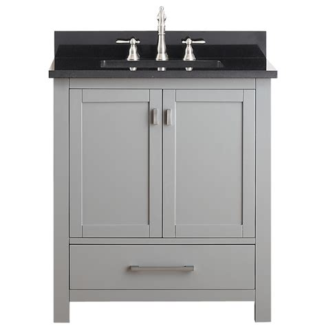 30 Inch Bathroom Vanity Cabinet 30 Inch Single Sink Bathroom Vanity In Chilled Gray Uvacmoderov30cg30