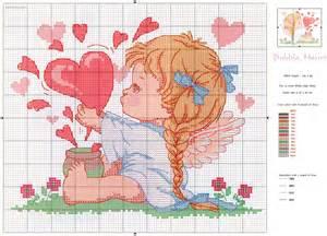 вышивка ангелочки для беременности схема