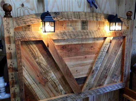 diy pallet bed frame  lighted headboard  night stands pallets pro