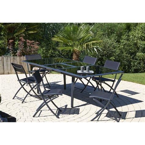 cdiscount table et chaise ensemble table extensible de jardin 180 240 cm 6