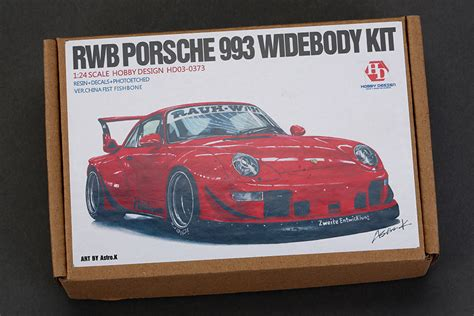 widebody porsche 993 1 24 rwb porsche 993 wide body kit hd03 0373 hobby design