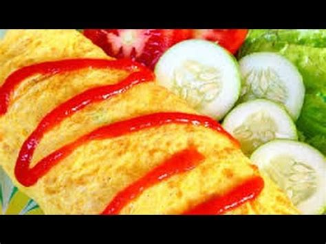 membuat nasi omelet jepang resep nasi goreng selimut telur dadar learn to make fried