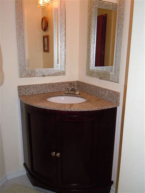 replacing a corner vanity and sink in a bathroom hometalk
