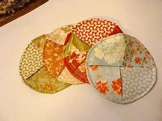 pattern for fabric wine coasters glass coasters sewing pinterest