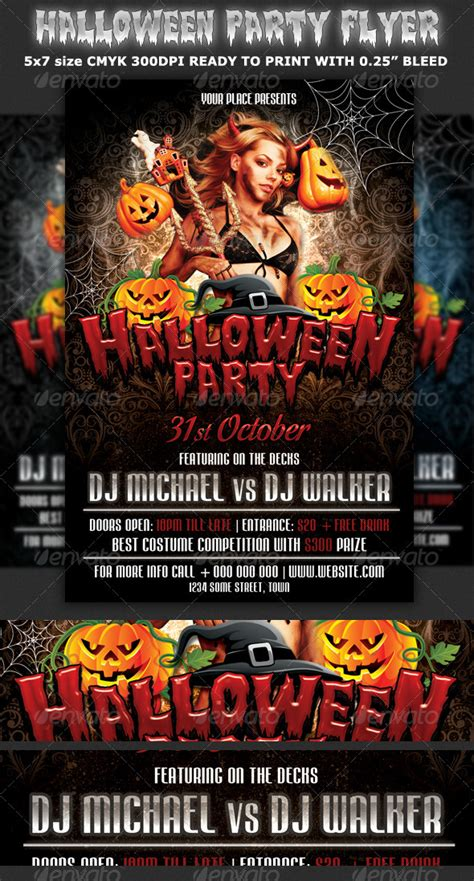 flyer templates halloween party halloween party flyer template by hotpin graphicriver