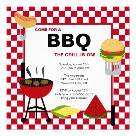bbq invite template blank bbq templates pictures to pin on pinsdaddy