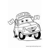 Luigi La Fiat 500 Di Cars Disney Disegno Da Colorare