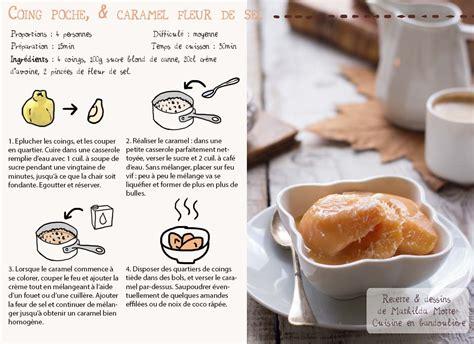dessin recette de cuisine recette de coing mathilda motte cuisine en bandouli 232 re