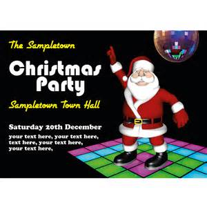 personalised christmas party invites or cards disco santa
