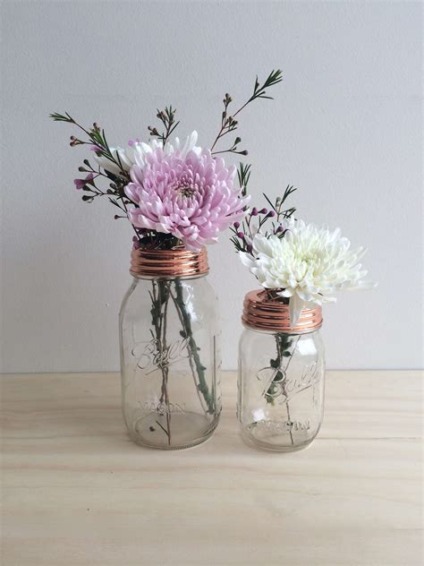 English Country Home Decor copper ball mason flower jar 500ml rainy sunday