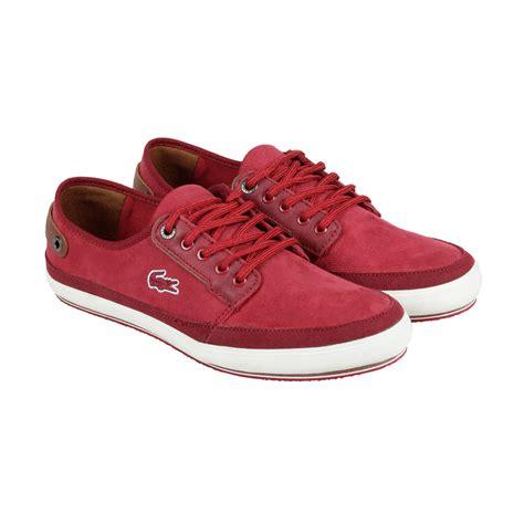 lacoste saulieu 4 ap srm mens canvas lace up sneakers