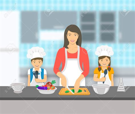 son cooking  mom clipart   cliparts