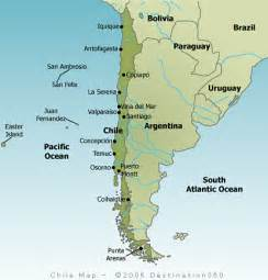 map of chile south america chile map tourist map of chile