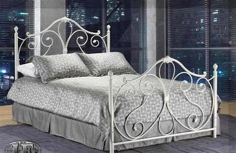 white wrought iron bed traditional beds