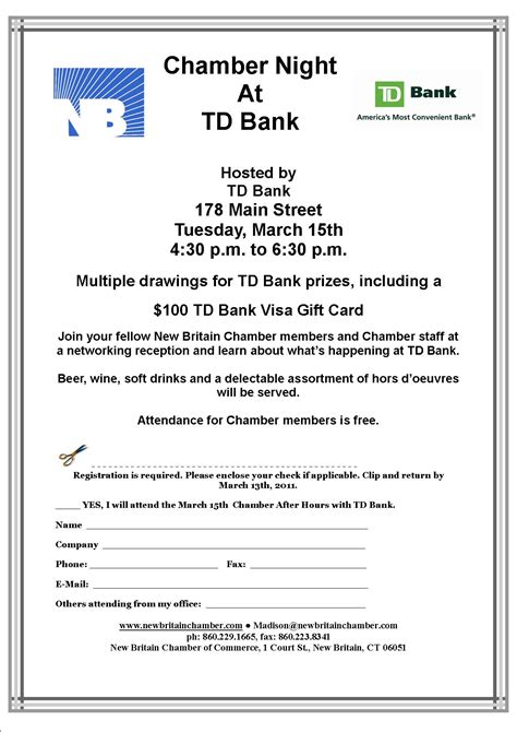 Td Bank Gift Cards - gift certificates plymouth chamber of commerce party invitations ideas