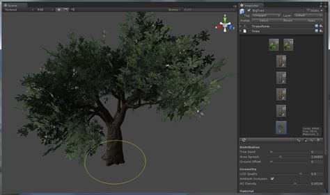 tree creator creating terrains with unity 3d engine