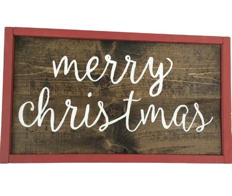Handmade Wooden Sign - merry handmade wooden sign contemporary