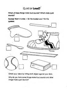science sound worksheets for 1st grade first grade