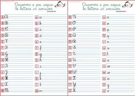 lettere corsivo alfabeto corsivo maiuscolo e minuscolo genitorialmente