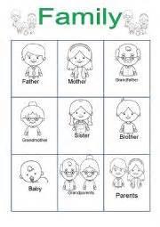 english worksheets family for kindergarten