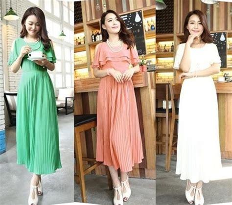 Sepatu Untuk Pesta Pantai tips memilih model dress korea panjang untuk tubuh mungil