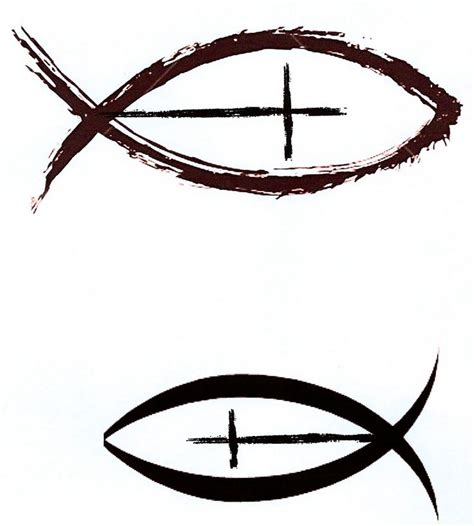 christian symbol tattoo designs 25 best ideas about jesus fish tattoos on