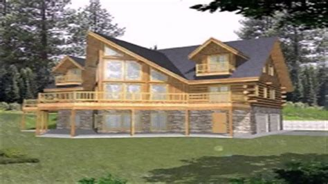 log cabin floor plans with walkout basement