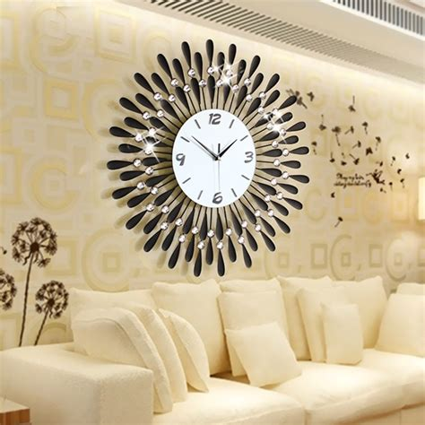 large wall clocks for living room home decoration wall clock modern living room large wall