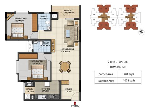2bhk floor plan ozone urbana integrated township bangalore