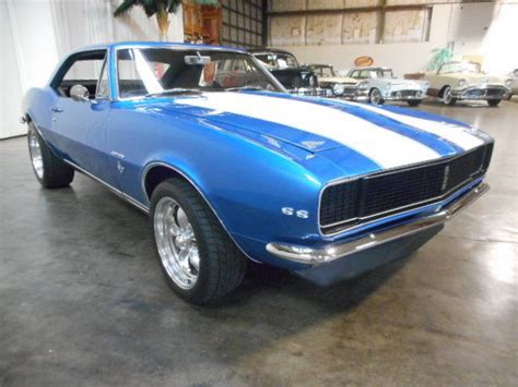 blue camaro with white stripes 1967 camaro rs ss v8 350ci 4 speed lemans blue with