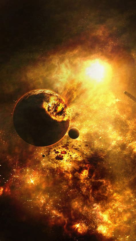 exploding planet space universe iphone   hd wallpaper hd   iphonewalls