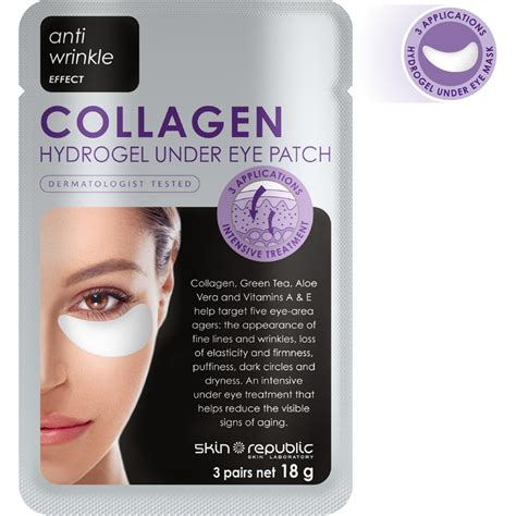 Collagen Eye Patch skin republic collagen eye patch 3 pairs 18g