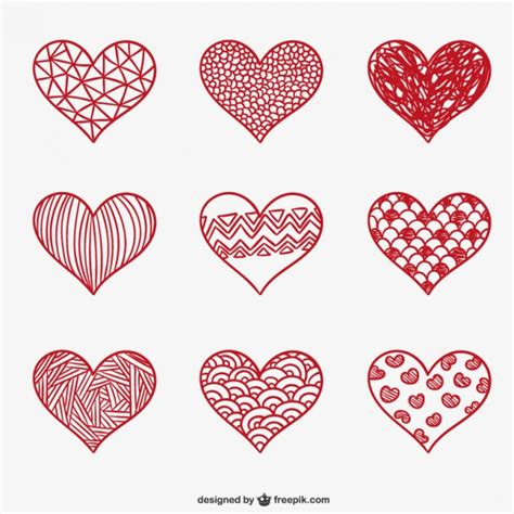 free doodle hearts doodle hearts vector free